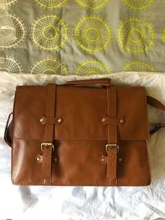 Asos leather briefcase sling bag