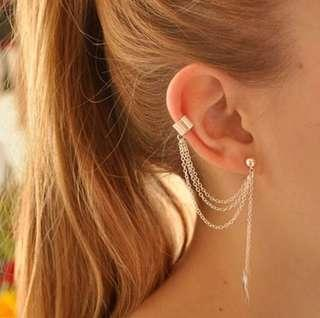 ✨FREE SHIPPING Leaf Chain Earring and Ear Cuff