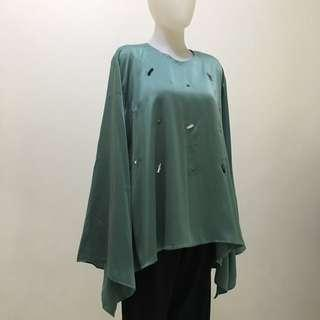 Blouse bell sleeve mint