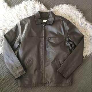 🔸 BNWOT Vintage Reserve Brown Leather Jacket size M