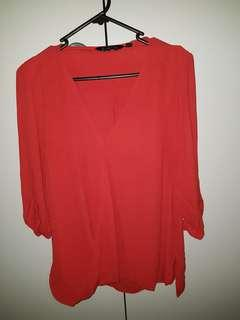 Glassons Sheer red top