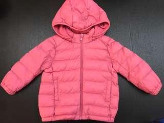 Uniqlo BABY light warm padded full zip parka