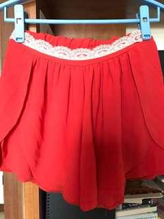 Flare red pant