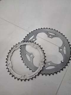 Shimano road chainrings