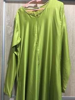 Green ombre jubah