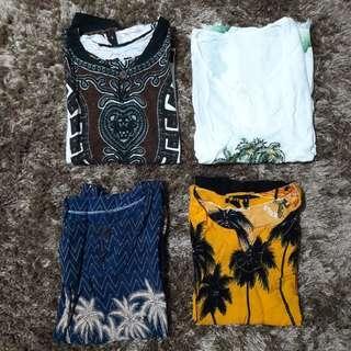 4 stel Baju Bali/bangka/pangandaran