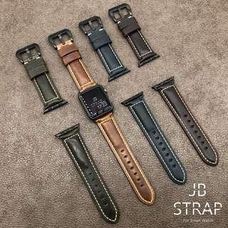 Apple Watch 錶帶 意大利復古油蠟錶帶 Apple Watch Strap 蘋果手錶錶帶
