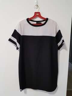 Oversized Colour block shift dress