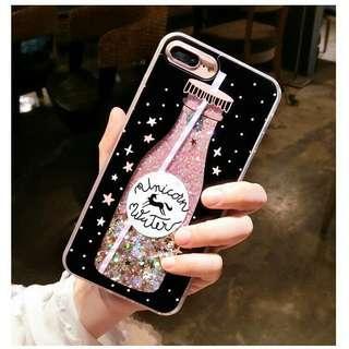 Iphone 7 Plus Phone Case Unicorn Water Glitter Quicksand
