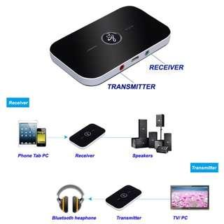 2 in 1 Wireless audio receiver and transmitter bluetooth 4.0