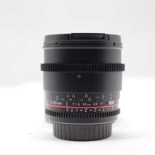 Used - Samyang 85mm T1.5 AS IF UMC for Canon Mount