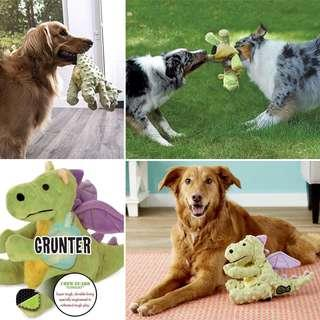 LARGE Brand New GoDog Dragons Chew Guard Dog Toy, Lime Green