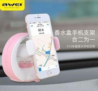 Car phone holder with Perfume for toyota kia hyundai suzuki mitsubishi bmw vios altis eon kia soul innova avanza