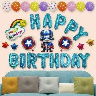 🌟 Captain America Birthday Set 🌟