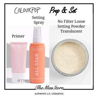 🚚 Colourpop Prep & Setting Spray and Powder