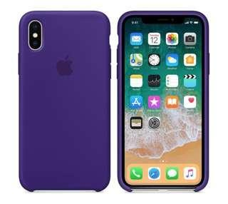 New iPhone X Silicon Case (Ultra Violet)