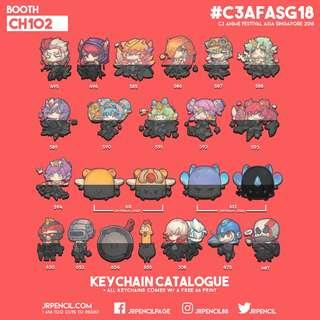 AFASG 2018   Keychain Catalogue 3/7   Booth CH102