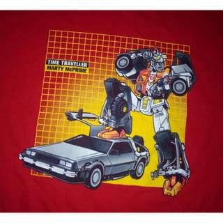 Back To The Future x Transformers shirt
