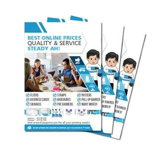 Cheap Flyer / Leaflet / Brochure Printing in SG!