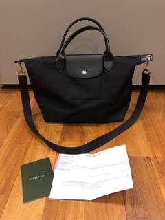 Longchamp Le Pliage Neo Top Handle Black Bag