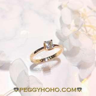【Peggyhoho】全新18K玫瑰金72份真鑽石配小鑽共83份鑽石戒指| 超值系列 | 店長精選HK12號