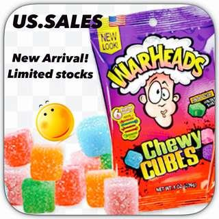 New Arrivals- Warhead Chewy Cubes ( non-gelatin)  226g from 🇺🇸
