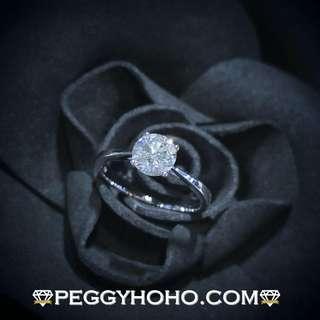 【Peggyhoho】全新18K白金92份真鑽石戒指| 超值搶手 | 店長精選HK13.5號