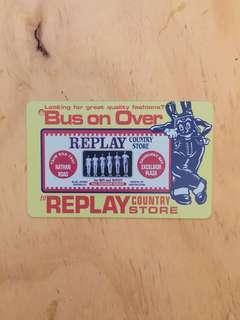 90年代地鐵儲值票-背面Replay 廣告 MTR Stored Value Ticket circa 1990's