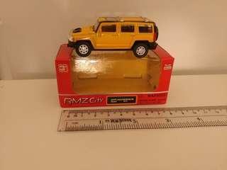 [盒裝]全新1:64 黃色hummer h3 回力車