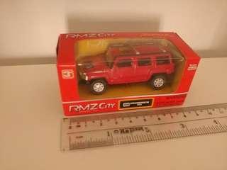 [盒裝]全新1:64 紅色hummer h3 回力車 (B)