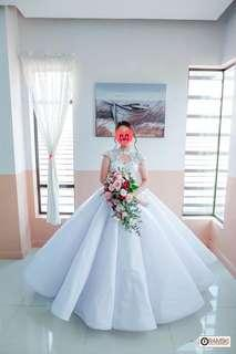 12 panel wedding gown