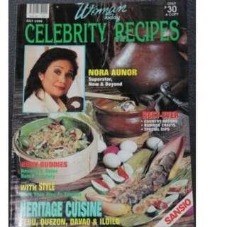 July 1995 Woman Today Celebrity Recipe Nora Aunor