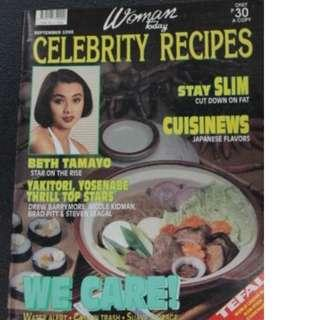 Sept 1995 Women Today Celebrity Recipe Beth Tamayo