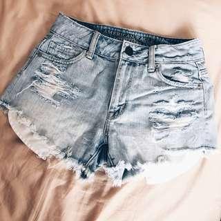AEO high waisted shorts