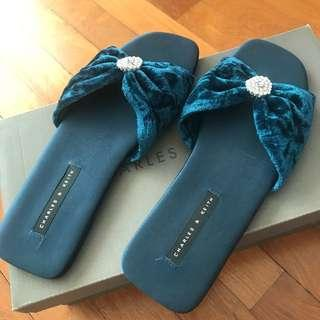 Charles and Kate Open Toe Slippers