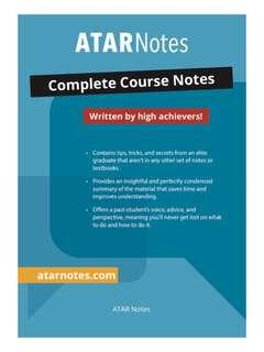 ATAR Notes Advance English Textbook