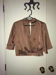 Glassons silk shirt with collar