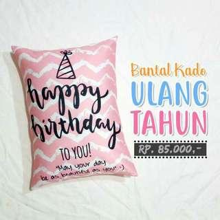 BIRTHDAY PILLOW - LET'S SAY WITH PILLOW uk. 30x40cm