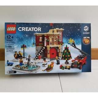 Lego 10263 Winter Village Fire Station Christmas X'mas - Brand New MISB good box