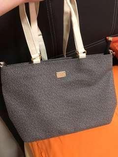 grey sling / handbag