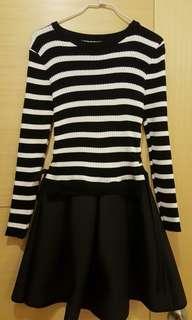橫條紋洋裝