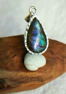 Ammolite Pendant 斑彩石吊坠