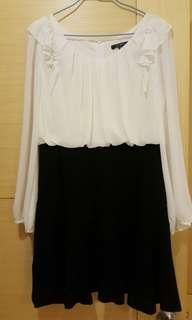 荷葉設計小洋裝