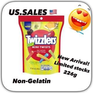 New Arrivals- Twizzlers Sours Twists ( non-gelatin)  226g from 🇺🇸
