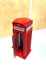 London Telephone Box Figurine ( Die Cast Metal )