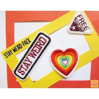 STAY WEIRD PACK Iron-on Patches