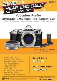 Em5 mkii kit free olympus m.zuiko 45mm f1.8