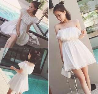 [AVAIL] White Off Shoulder Dress