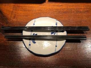 黑色膠筷子33對 Black Plastic Chopsticks
