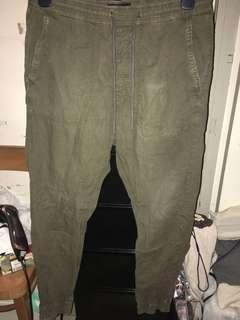 搬屋清褲【American Eagle】Olive Jogger Pants